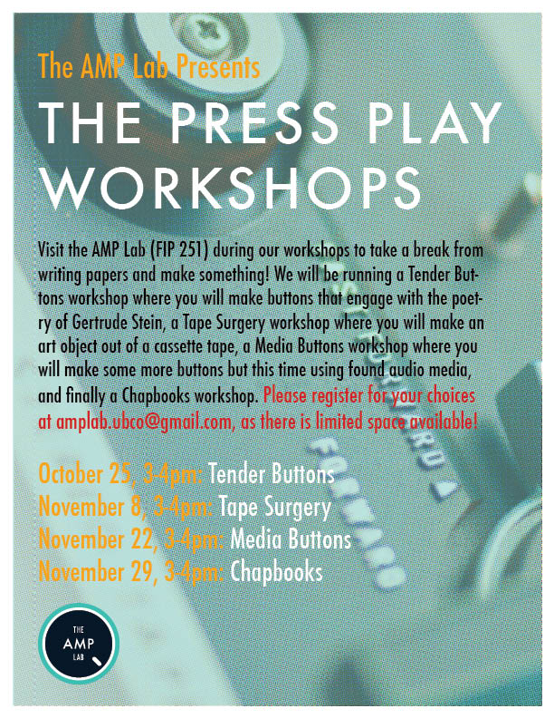 Press Play Workshop Poster
