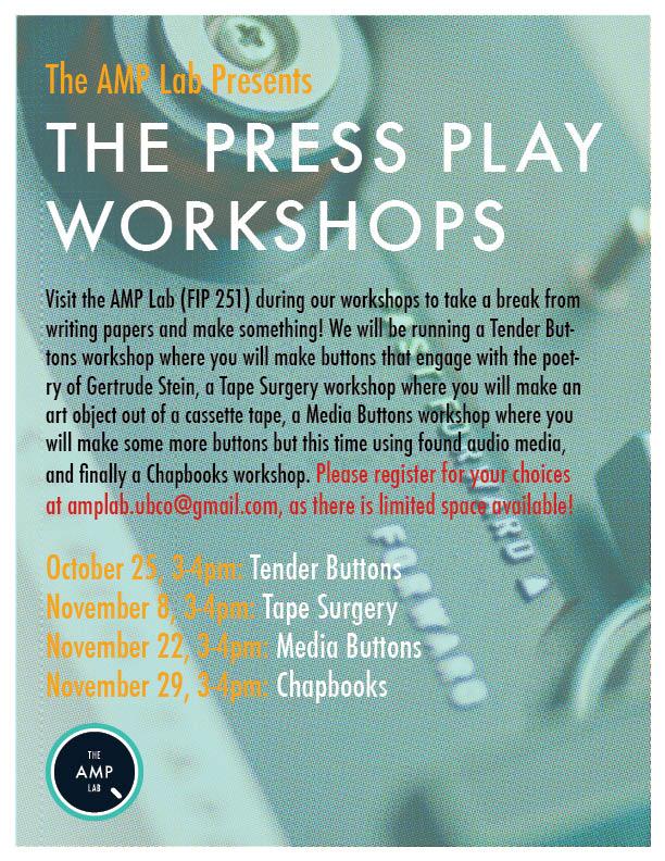 Press Play Workshop Poster