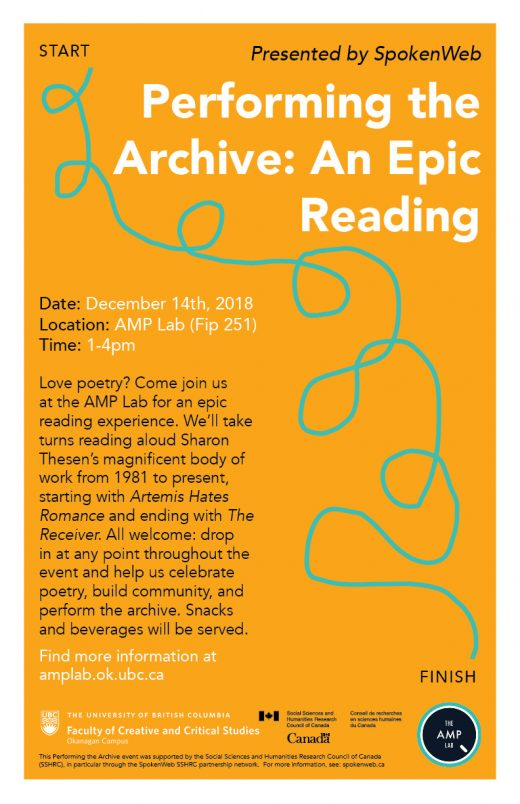 Poster for Performing the Archive: An Epic Reading
